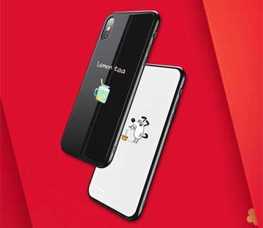 iPhone X Hoesje Metaal