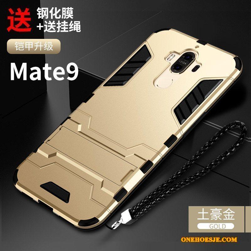 Hoesje Voor Huawei Mate 9 All Inclusive Persoonlijk Hoes Telefoon Anti-fall Zwart