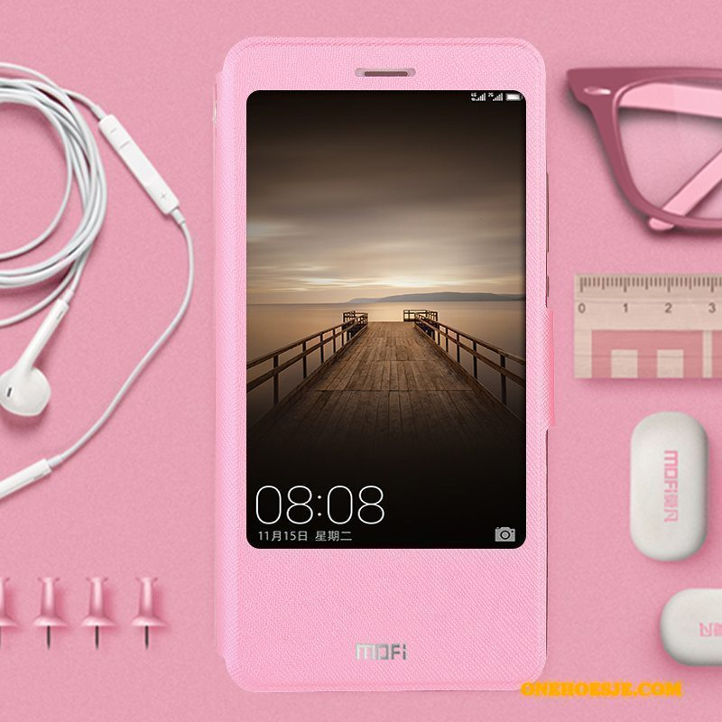 Hoesje Voor Huawei Mate 9 All Inclusive Siliconen Anti-fall Telefoon Roze Folio