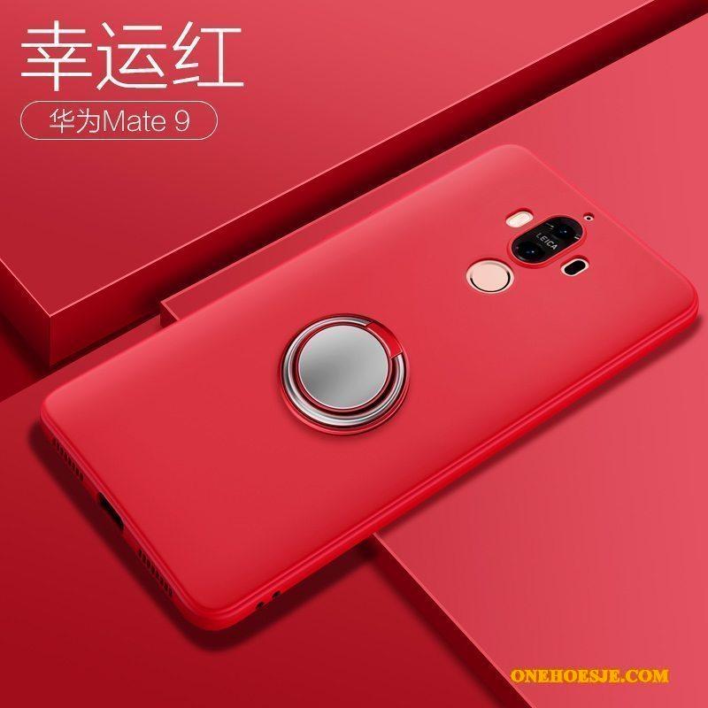 Hoesje Voor Huawei Mate 9 Blauw Dun Schrobben Siliconen Hoes Telefoon