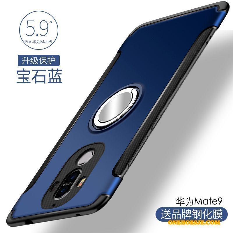Hoesje Voor Huawei Mate 9 Blauw Siliconen Telefoon Anti-fall Persoonlijk