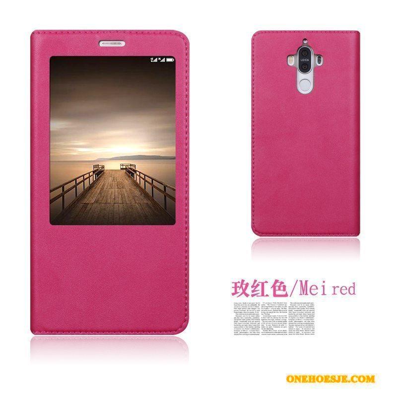 Hoesje Voor Huawei Mate 9 Clamshell Hoes Bescherming Leren Etui Anti-fall
