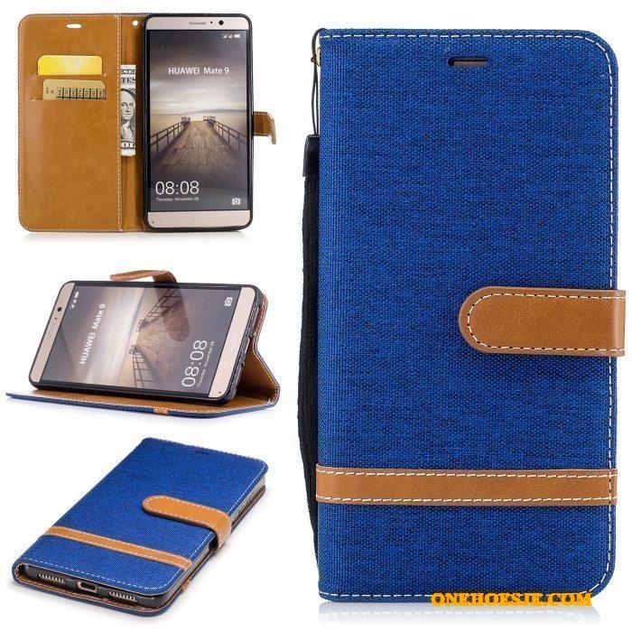 Hoesje Voor Huawei Mate 9 Clamshell Purper Telefoon Bescherming Leren Etui Achterklep