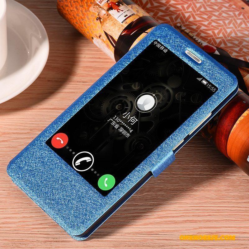 Hoesje Voor Huawei Mate 9 Goud Siliconen Clamshell Leren Etui Telefoon