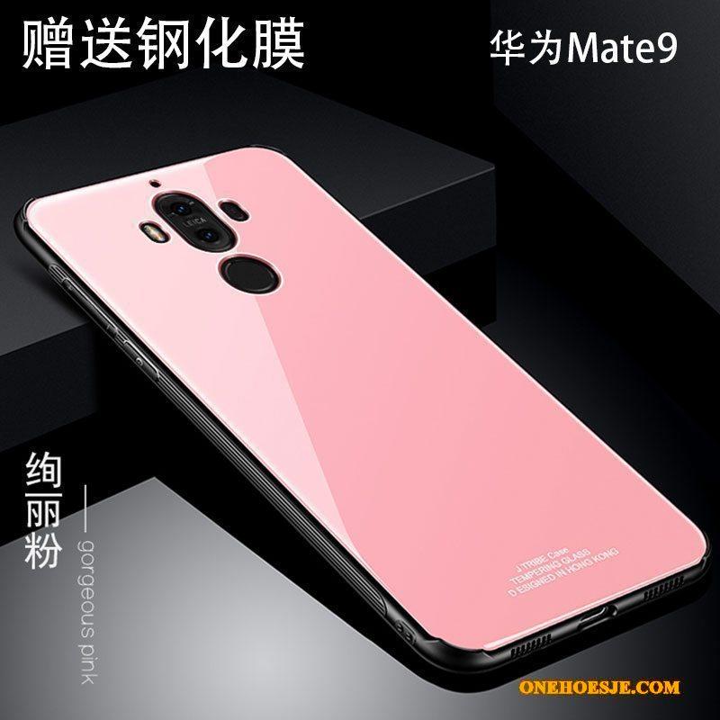 Hoesje Voor Huawei Mate 9 Hoes Persoonlijk Anti-fall Metaal Rood Telefoon