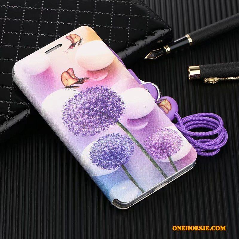 Hoesje Voor Huawei Mate 9 Leren Etui Bescherming Hoes Folio Zacht Hanger
