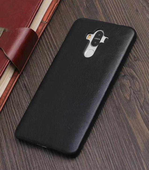 Hoesje Voor Huawei Mate 9 Mobiele Telefoon Leren Etui Bedrijf Echt Leer Bescherming Telefoon