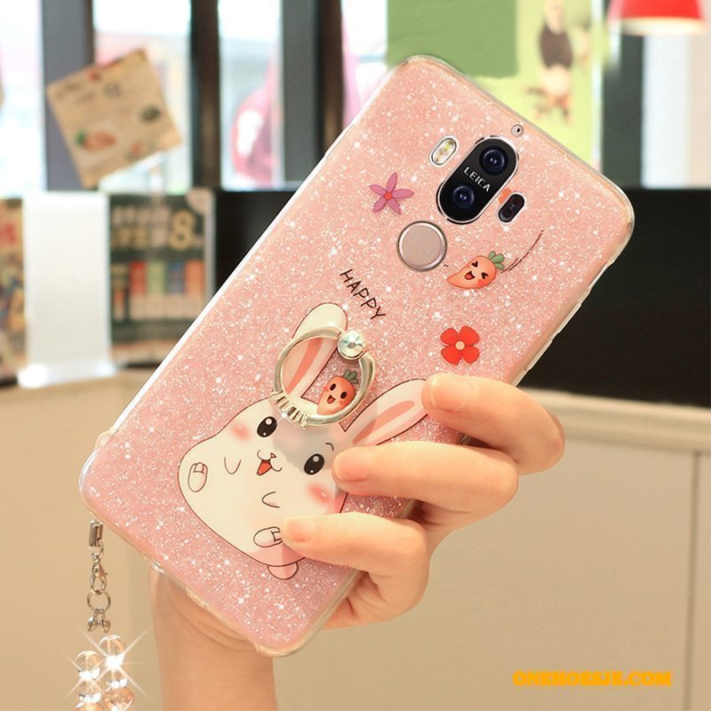 Hoesje Voor Huawei Mate 9 Roze Scheppend Bescherming Mooie Anti-fall