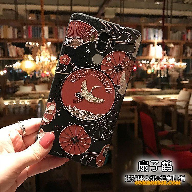 Hoesje Voor Huawei Mate 9 Schrobben Kraanvogel Zacht Reliëf Wind Telefoon
