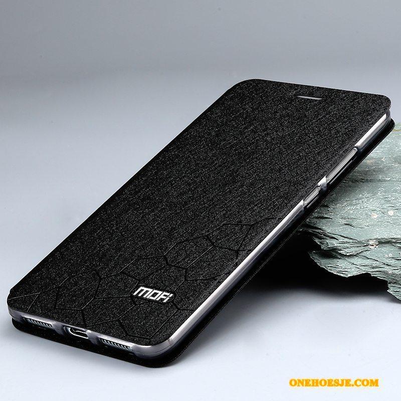 Hoesje Voor Huawei Mate 9 Siliconen Folio Leren Etui Bescherming Goud Hoes