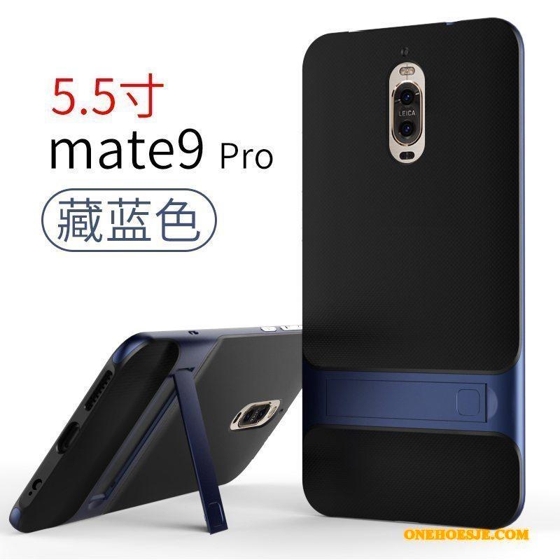 Hoesje Voor Huawei Mate 9 Siliconen Goud Anti-fall Telefoon Eenvoudige
