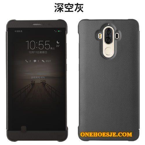 Hoesje Voor Huawei Mate 9 Telefoon All Inclusive Bescherming Anti-fall Clamshell Leren Etui
