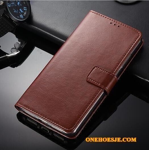 Hoesje Voor Huawei Mate 9 Telefoon Leren Etui Mobiele Telefoon Blauw Folio Bescherming