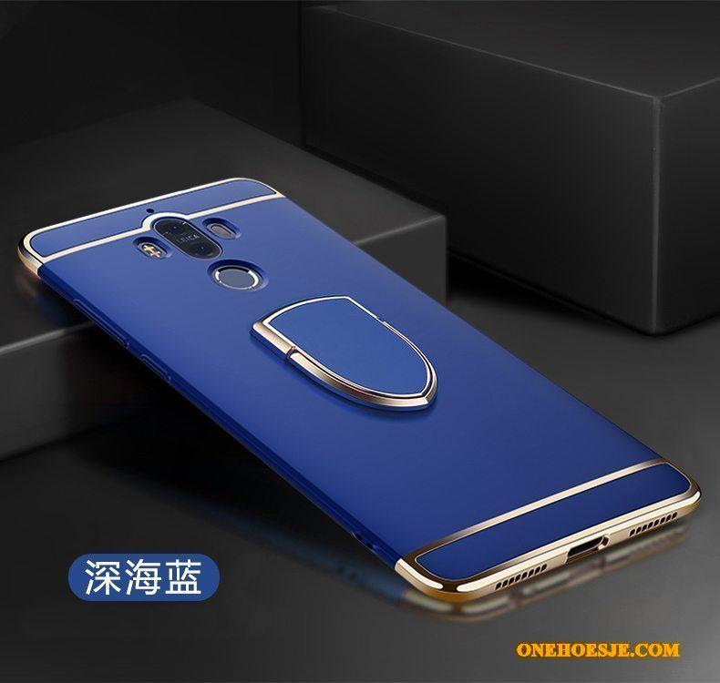 Hoesje Voor Huawei Mate 9 Telefoon Schrobben Anti-fall Magnetisch Ring Rood