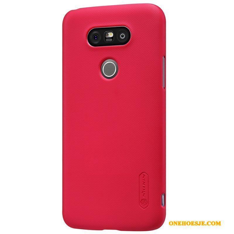 Hoesje Voor Lg G5 Bescherming Schrobben Hoes Telefoon Rood Goud