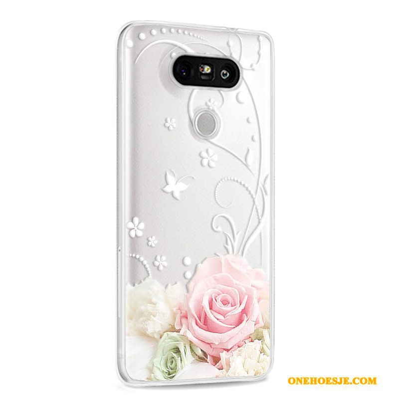 Hoesje Voor Lg G5 Hoes Siliconen Reliëf All Inclusive Anti-fall Telefoon