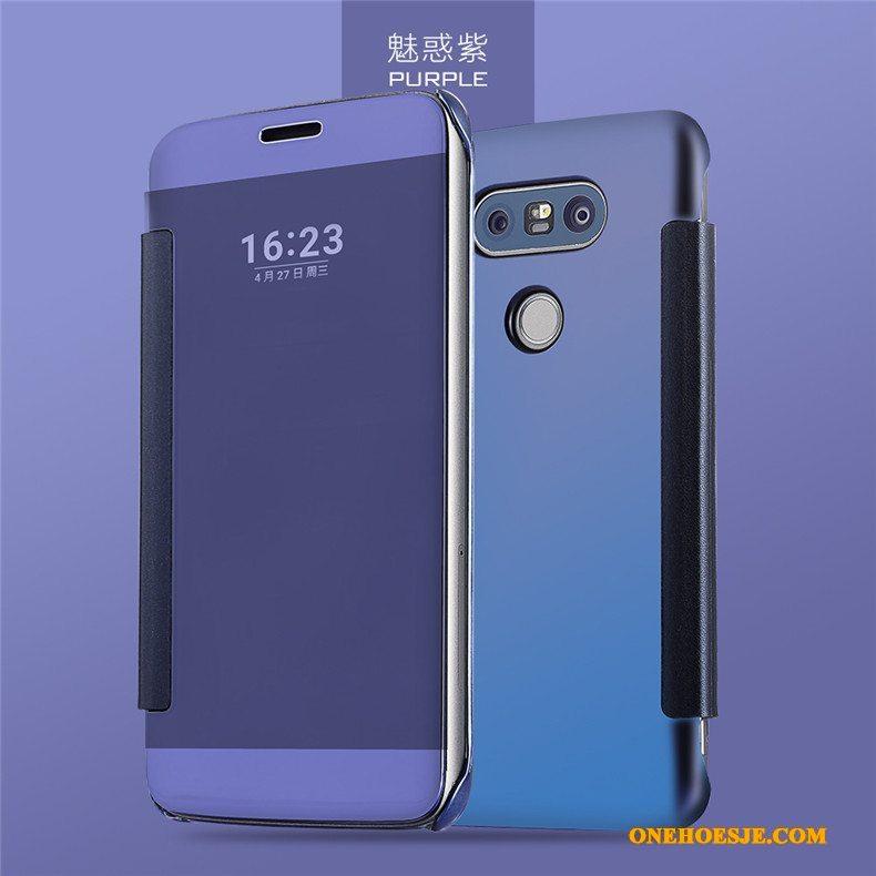 Hoesje Voor Lg G5 Mobiele Telefoon Telefoon Blauw Folio Anti-fall Winterslaap