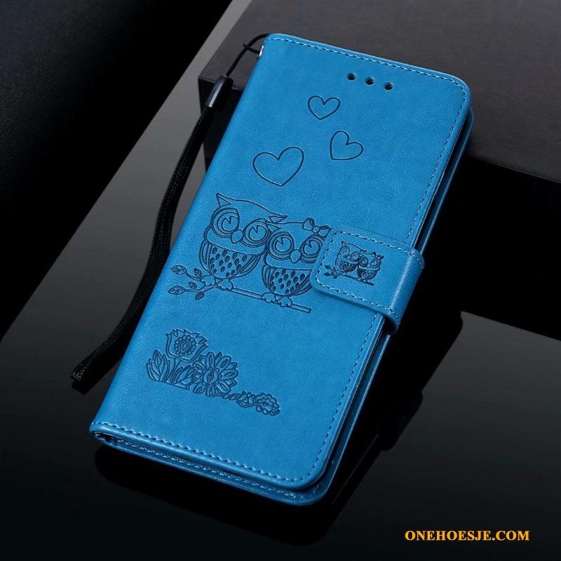 Hoesje Voor Samsung Galaxy A20e Anti-fall Clamshell Hoesje Telefoon Bescherming Blauw