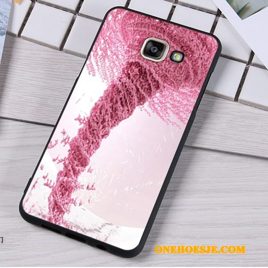 Hoesje Voor Samsung Galaxy A5 2016 Mobiele Telefoon Ster Licht Roze Schrobben Hanger