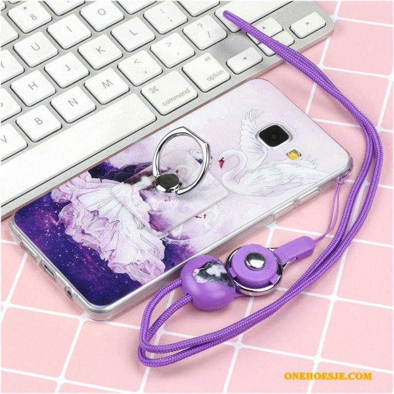 Hoesje Voor Samsung Galaxy A5 2016 Telefoon Siliconen Mooie Roze Ster Bescherming