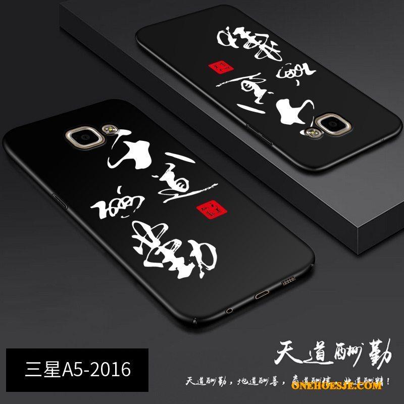 Hoesje Voor Samsung Galaxy A5 2016 Zwart Hard Telefoon Ster All Inclusive