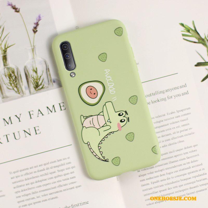 Hoesje Voor Samsung Galaxy A50s Trendy Merk Siliconen Lichte En Dun Schrobben Lovers Groen