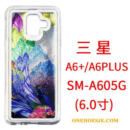 Hoesje Voor Samsung Galaxy A6+ Hoes Hanger Spiegel Spotprent Telefoon Ster