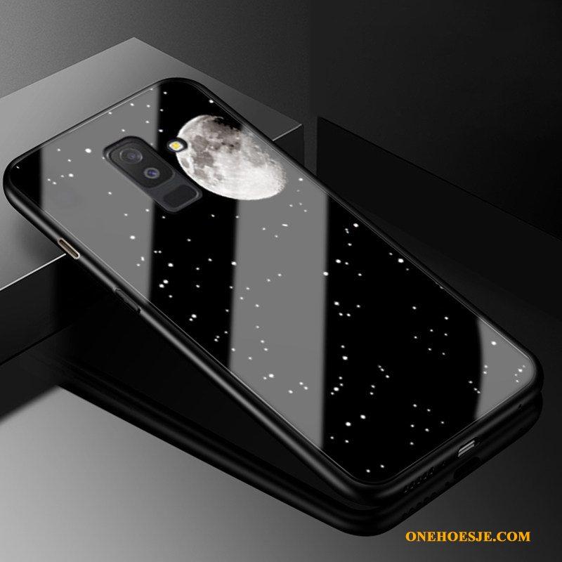 Hoesje Voor Samsung Galaxy A6+ Hoes Trendy Merk Glas Ster Gazen All Inclusive