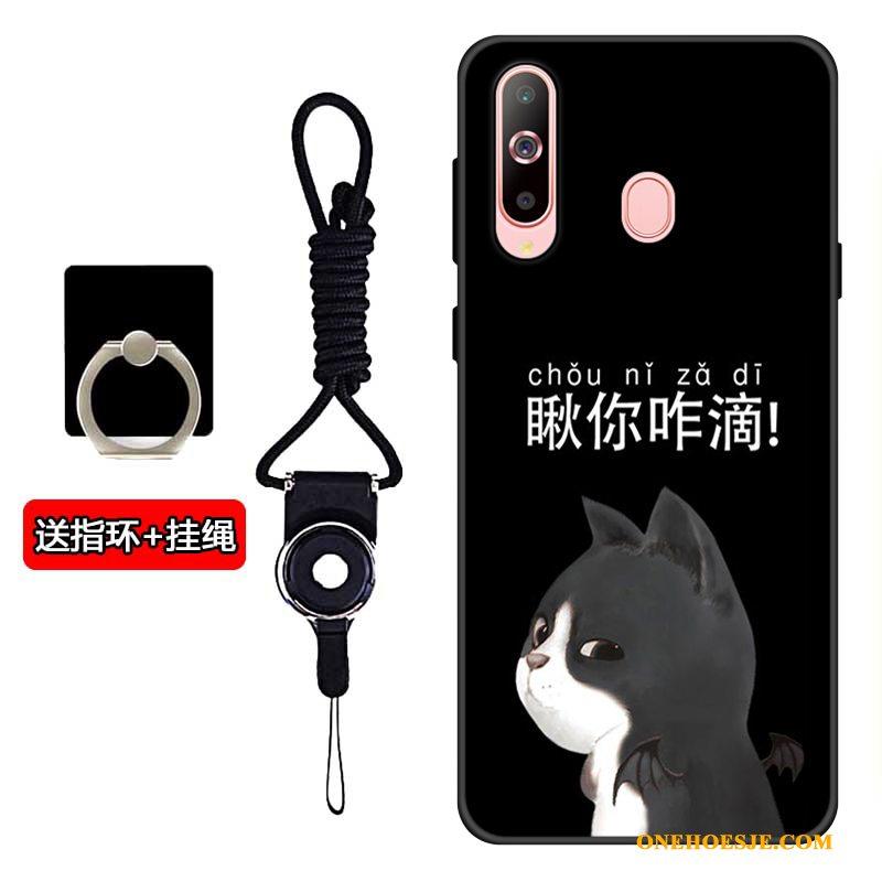 Hoesje Voor Samsung Galaxy A60 Anti-fall Siliconen Zacht Zwart Ster Telefoon