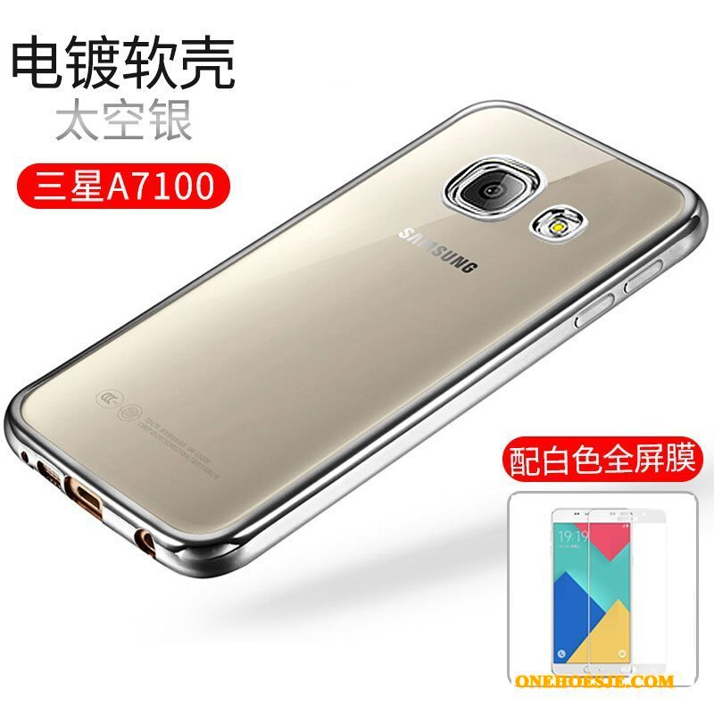 Hoesje Voor Samsung Galaxy A7 2016 Goud Siliconen Telefoon Zacht Ster