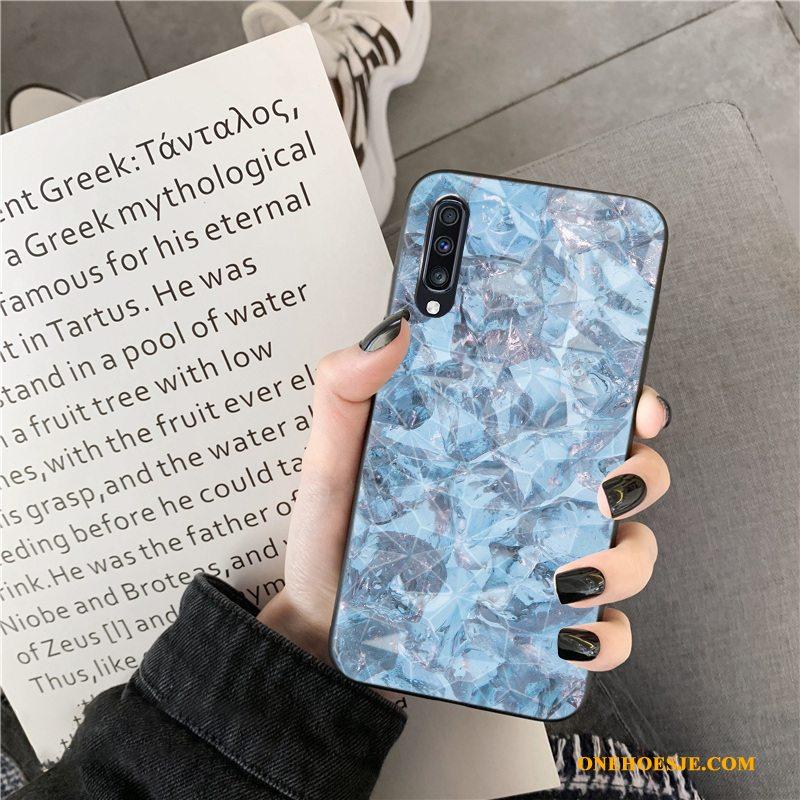 Hoesje Voor Samsung Galaxy A70 Gekleurde Anti-fall Ruit Telefoon Mode Eenvoudige