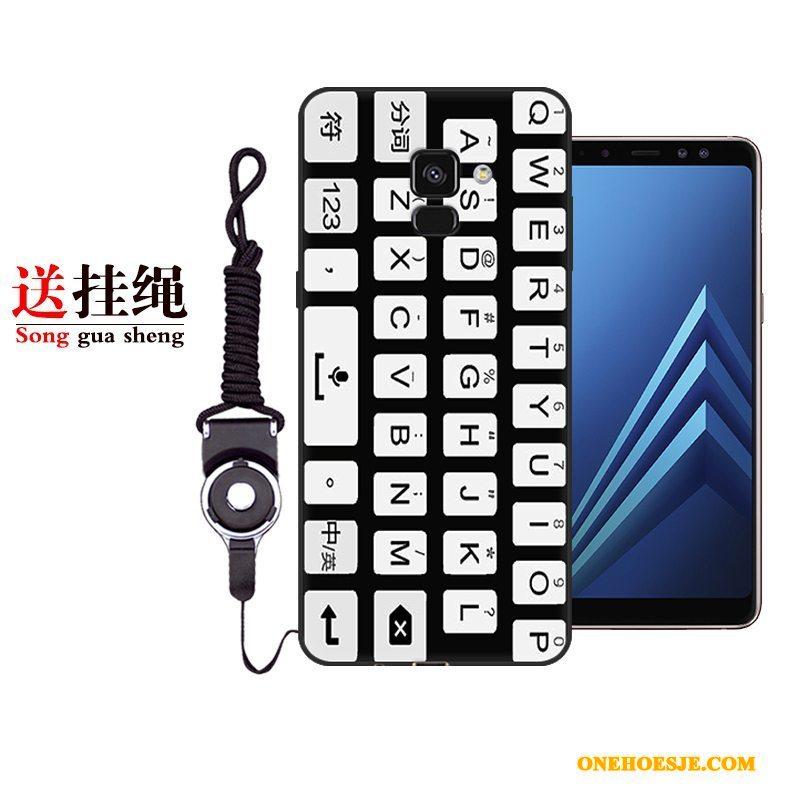 Hoesje Voor Samsung Galaxy A8+ Telefoon Persoonlijk Bescherming Ster Wit Anti-fall