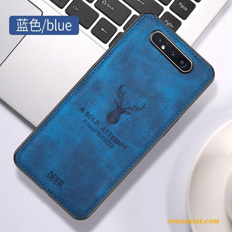 Hoesje Voor Samsung Galaxy A80 Anti-fall Hanger Ster Patroon Doek Telefoon