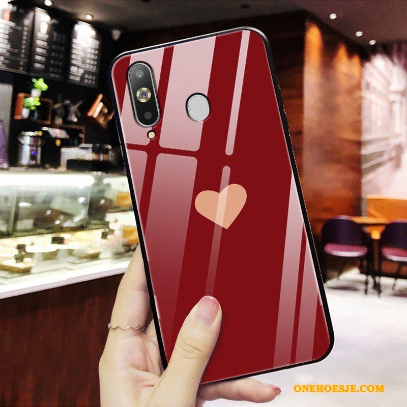 Hoesje Voor Samsung Galaxy A8s Golfpunt Eenvoudige Nieuw Rood Mode Persoonlijk