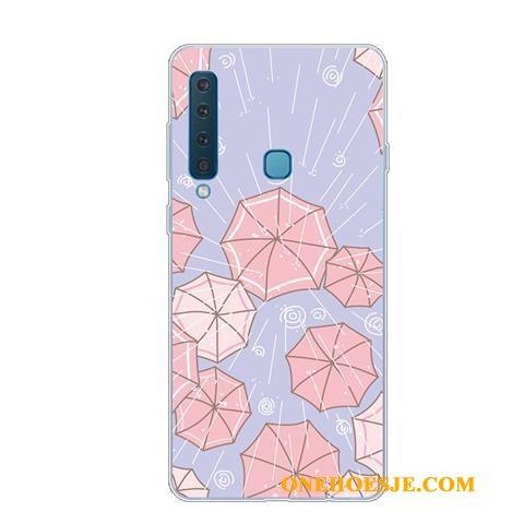 Hoesje Voor Samsung Galaxy A9 2018 Bescherming Mooie Ster Scheppend Anti-fall Mobiele Telefoon