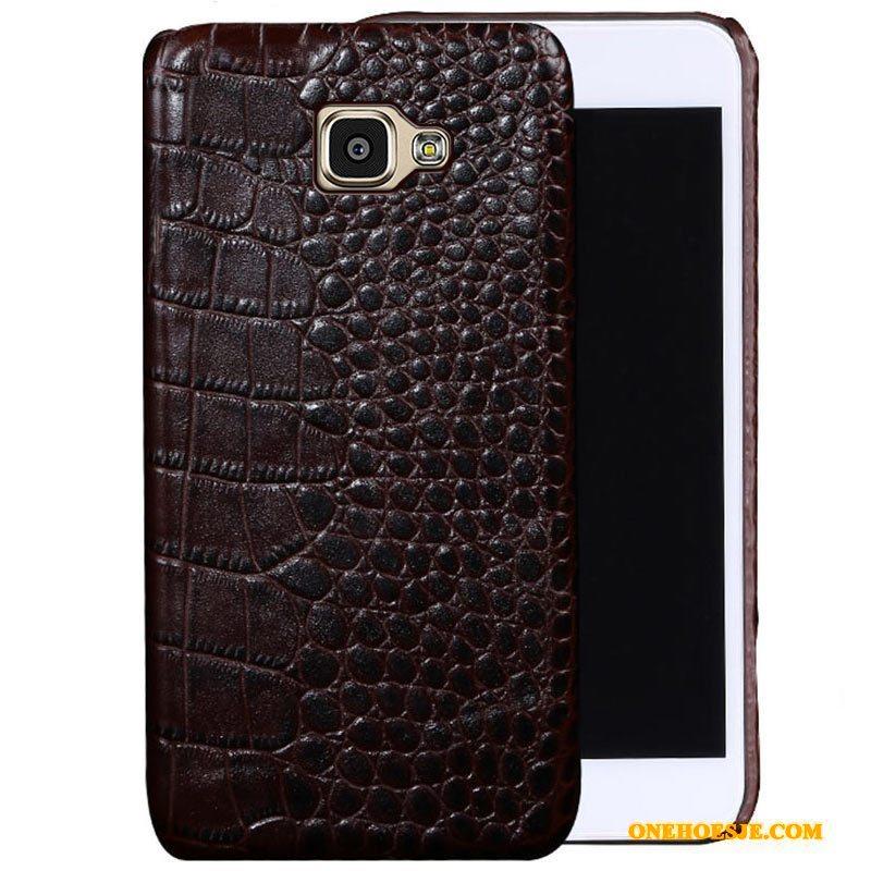 Hoesje Voor Samsung Galaxy A9 Dun Luxe Leren Etui Bescherming Pas
