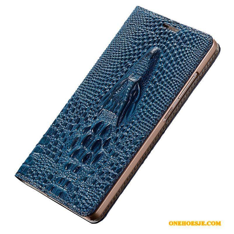 Hoesje Voor Samsung Galaxy A9 Siliconen Echt Leer Anti-fall Telefoon Bescherming Bruin