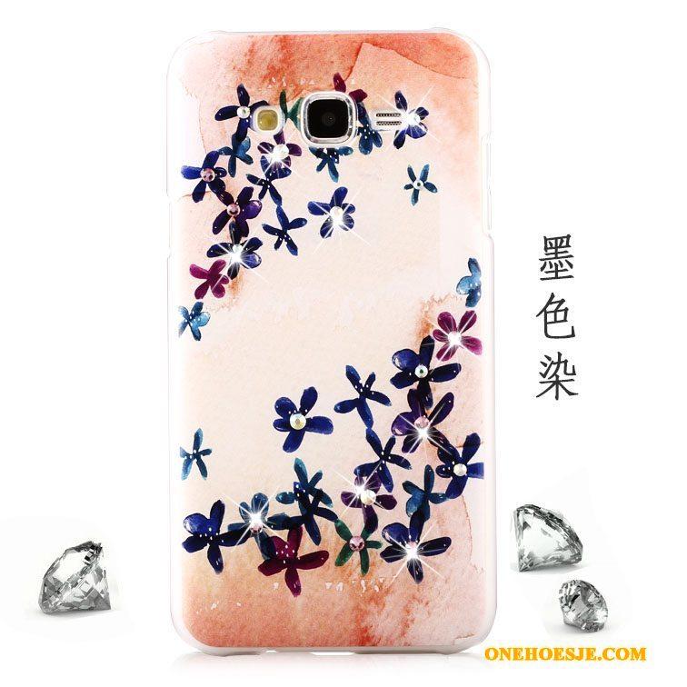 Hoesje Voor Samsung Galaxy J7 2015 Bescherming Schrobben Trend Anti-fall Groen