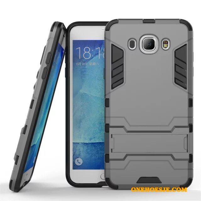 Hoesje Voor Samsung Galaxy J7 2016 Anti-fall Rood Ondersteuning Telefoon Bescherming
