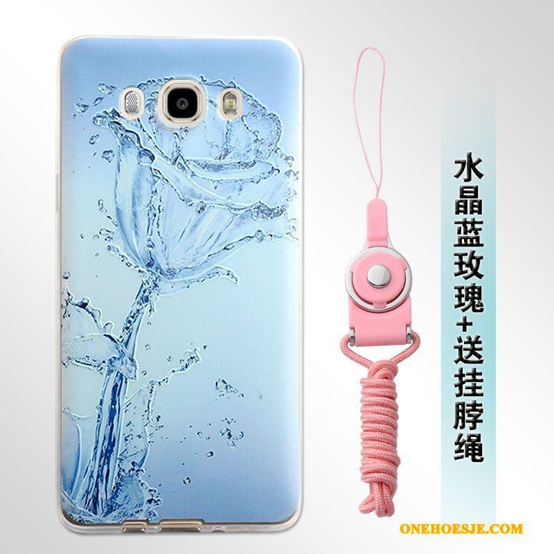 Hoesje Voor Samsung Galaxy J7 2016 Siliconen Reliëf Ster Zacht Bescherming
