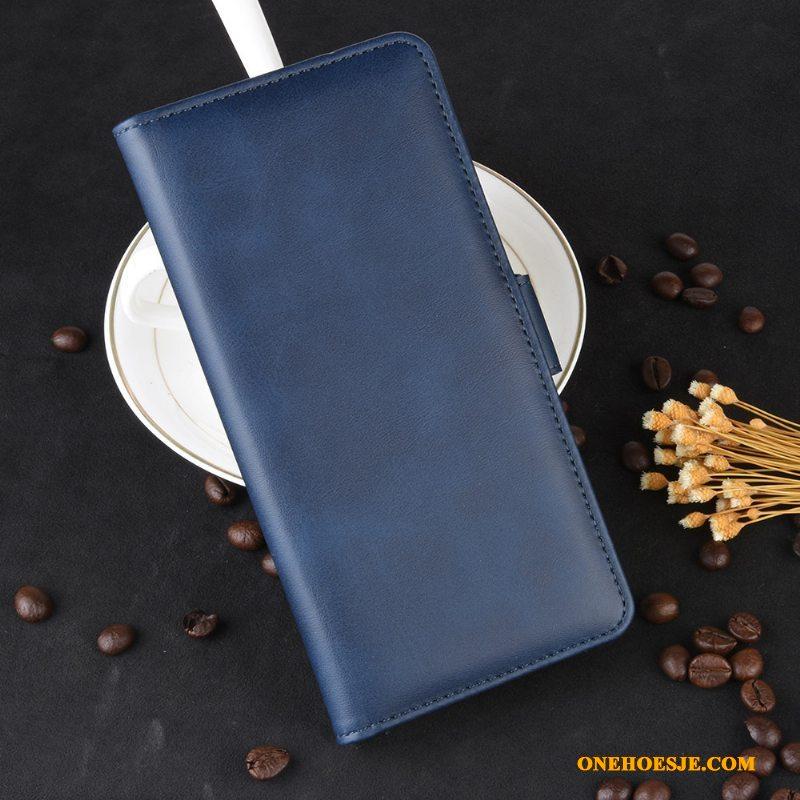 Hoesje Voor Samsung Galaxy M20 Koe Blauw Bescherming Hoes Vintage Telefoon