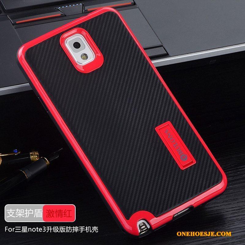 Hoesje Voor Samsung Galaxy Note 3 Bescherming Siliconen Hoes Achterklep Telefoon Rood
