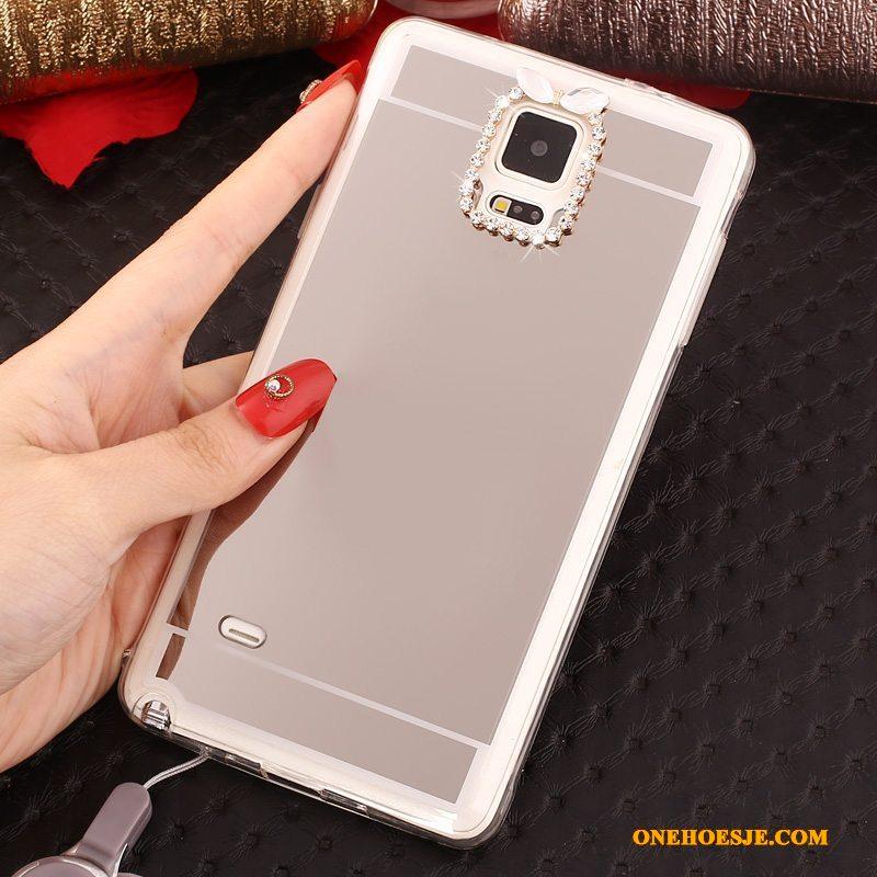 Hoesje Voor Samsung Galaxy Note 4 Mobiele Telefoon Hoes Anti-fall Zacht Ring Roze