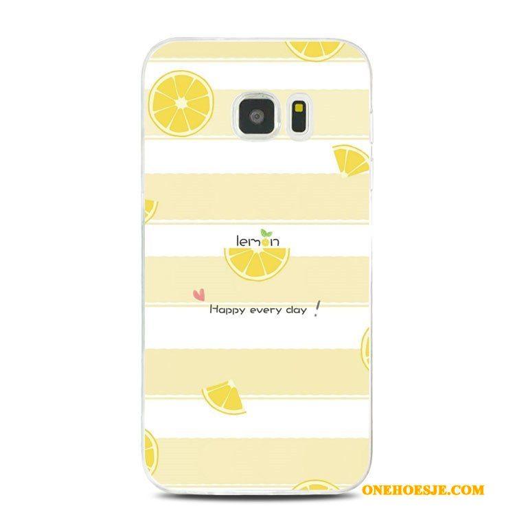 Hoesje Voor Samsung Galaxy Note 5 Siliconen Zacht Groen Ster Citroen