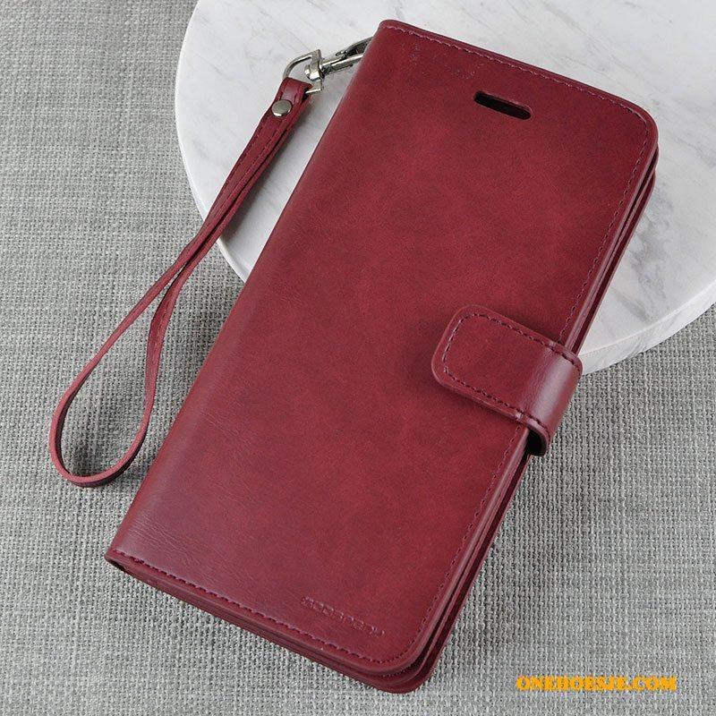 Hoesje Voor Samsung Galaxy Note 8 Siliconen Bescherming Geel Folio Zacht Leren Etui
