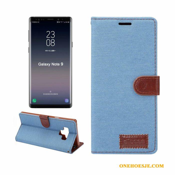 Hoesje Voor Samsung Galaxy Note 9 Patroon Diepe Kleur Folio Leren Etui Mobiele Telefoon Bedrijf