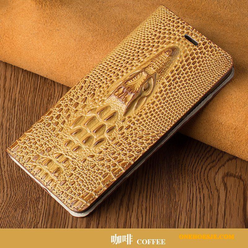 Hoesje Voor Samsung Galaxy S6 Edge + Hoes Luxe High End Echt Leer Licht Telefoon