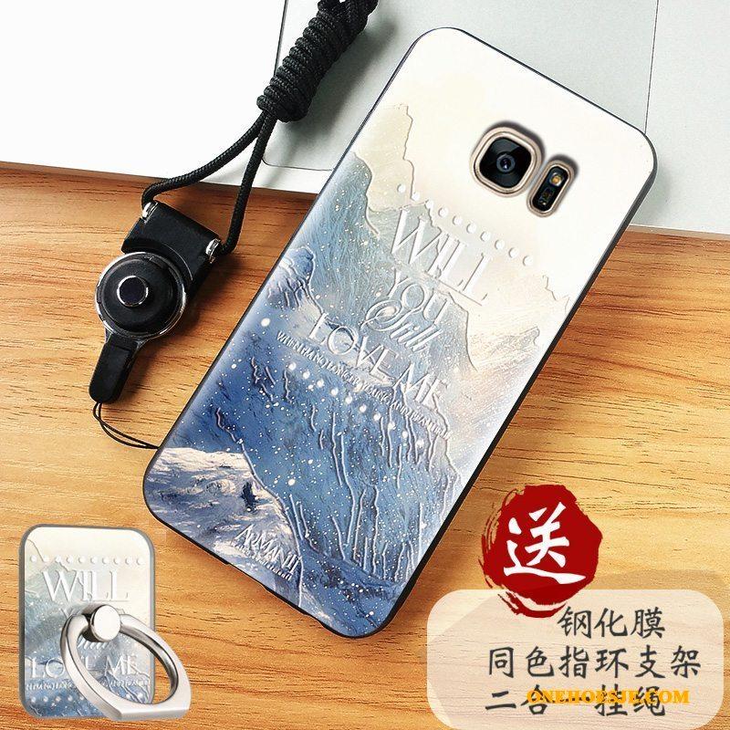 Hoesje Voor Samsung Galaxy S7 Edge Bescherming Zacht Trend Ster Hoes Anti-fall