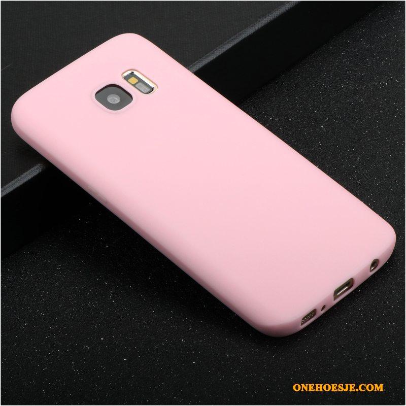 Hoesje Voor Samsung Galaxy S7 Edge Siliconen Persoonlijk Scheppend All Inclusive Roze Hoes