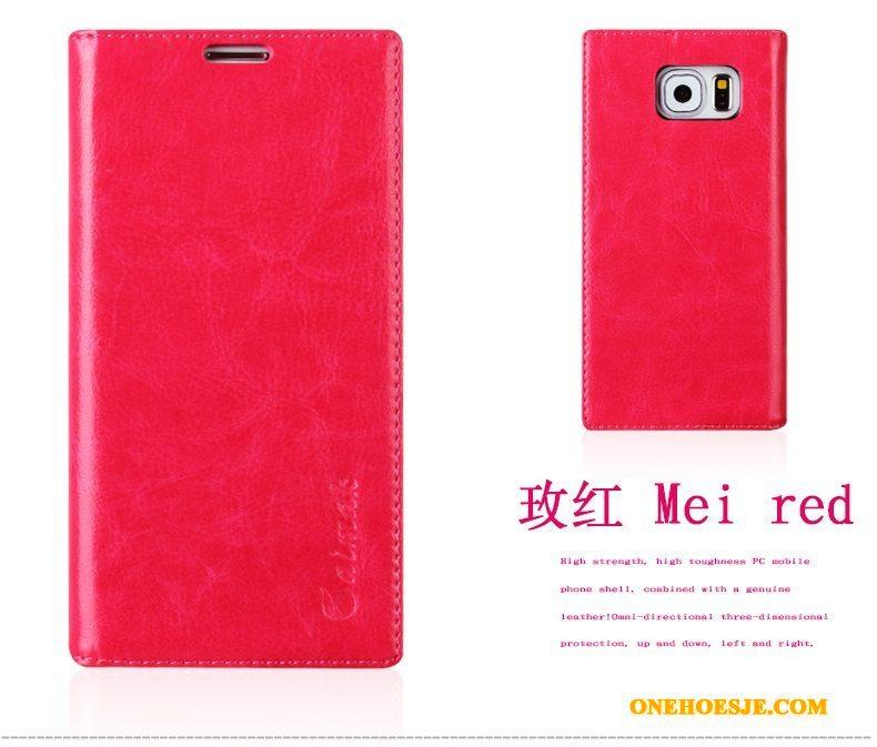 Hoesje Voor Samsung Galaxy S7 Edge Telefoon Bescherming Mobiele Telefoon Ster Clamshell Leren Etui